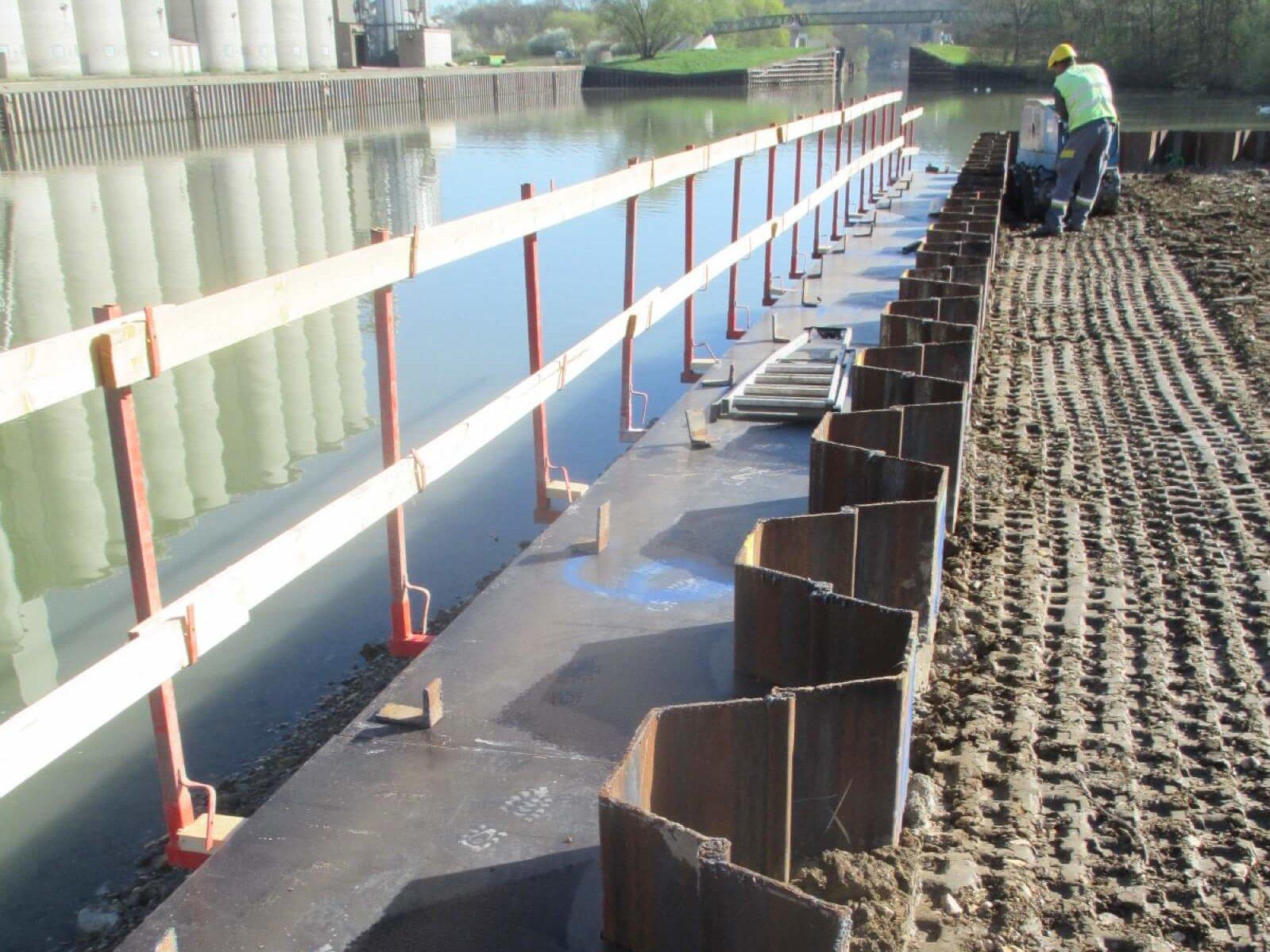Création d'un quai au Nouveau Port de Metz